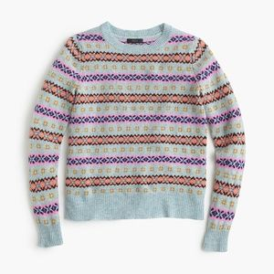 J. CREW Fair Isle Crewneck sweater